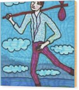 Tarot Of The Younger Self The Fool Wood Print