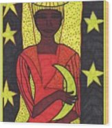 Tarot Of The Younger Self The High Priestess Wood Print