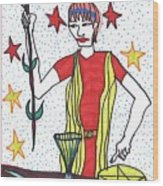 Tarot Of The Younger Self The Magician Wood Print
