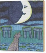 Tarot Of The Younger Self The Moon Wood Print