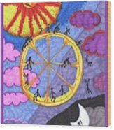 Tarot Of The Younger Self The Wheel Wood Print