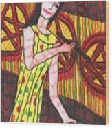 Tarot Of The Younger Self Three Of Pentacles Wood Print