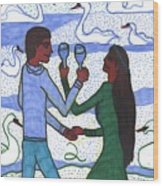 Tarot Of The Younger Self Two Of Cups Wood Print