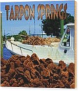 Tarpon Springs Postcard Wood Print