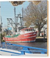 Tarpon Springs Shrimp Boat Wood Print