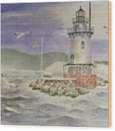 Tarrytown Lighthouse From The South Wood Print