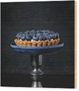 Tartlet With Blueberries Wood Print