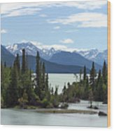 Taseko Lake Wood Print