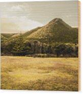 Tasmania West Coast Mountain Range Wood Print
