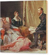 Tasso And Elenora Wood Print by Domenico Morelli