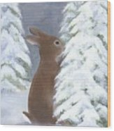 Tasting Winter Wood Print