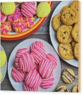 Tasty Assortment Of Cookies Wood Print