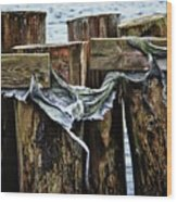 Tattered And Torn Wood Print