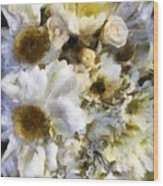 Tattered Bouquet Wood Print