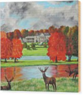 Tatton Hall In Autumn Wood Print