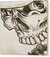 Tattoo Design Wood Print