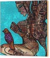 Tattoo Fairy Wood Print