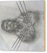 Tattooed Wolverine Wood Print