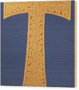 Tau Cross Wood Print