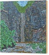 Taughannock Falls Wood Print