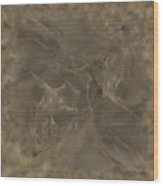 Taupe Fractal Composition Wood Print