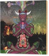 Taurus -psychedelic Zodiac Wood Print
