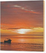 Taveuni Sunset Wood Print