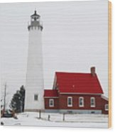 Tawas Point Lighthouse 2 Wood Print