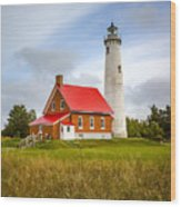 Tawas Point Lighthouse - Lower Peninsula, Mi  Wood Print