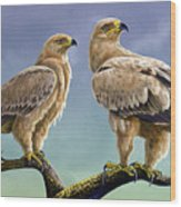 Tawny Eagles Wood Print