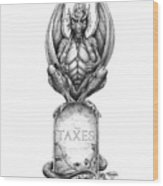 Taxes Wood Print