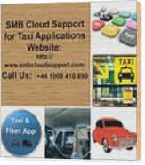 Taxi Booking Application Wood Print
