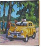 Taxi Y Amigos Wood Print