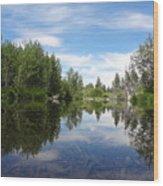 Taylor Creek Reflections Wood Print