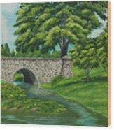 Taylor Lake Stone Bridge Wood Print