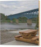 Taylor Peace River Bridge Wood Print
