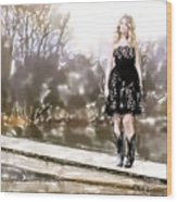 Taylor Swift Watercolor Wood Print