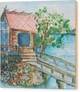 Tazawako Wood Print