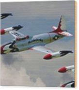 Tbirds Lockheed T-33 Shooting Star Wood Print