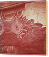 Tcu Horned Frog Red Wood Print