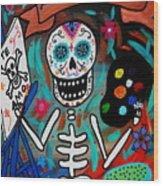 Te Amo Painter Dia De Los Muertos Wood Print
