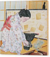 Tea Ceremony Wood Print