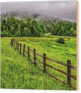 Tea Creek Meadow And Buttercups Wood Print