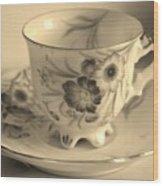 Tea Cup Wood Print