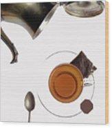 Tea For One Wood Print
