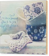 Tea For Three Wood Print