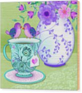 Tea For Two Wood Print