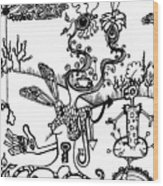 Tea In The Sahara  Wood Print