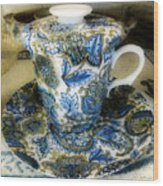 Tea Is Served Wood Print