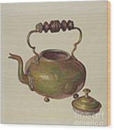 Tea Kettle Wood Print